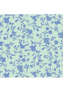 Tecido Adesivo Flor Maria Royal E Turquesa