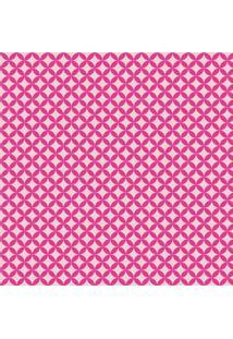 Tecido Adesivo Geométrico Rose Com Rosa Choque