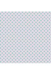 Tecido Adesivo Geométrico Tiffany
