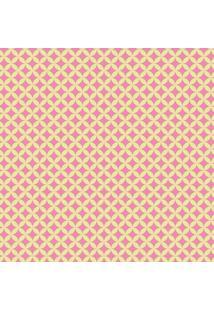 Tecido Adesivo Geométrico Verde Com Rosa