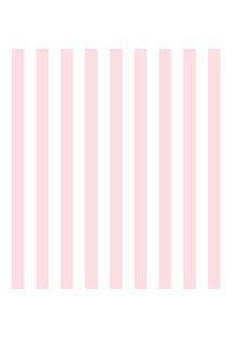 Tecido Adesivo Listra Rosa Com Branco