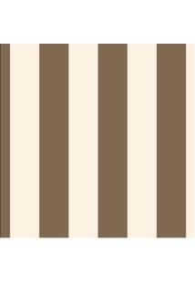 Tecido Adesivo Listradão Chocolate Com Palha