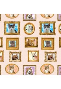 Tecido Adesivo Quadrinhos De Gatos