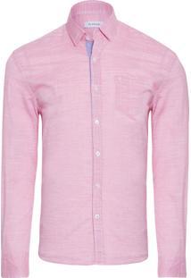 Camisa Masculina Resort Flame - Rosa