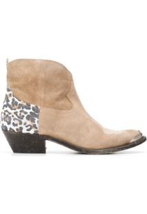 Golden Goose Ankle Boot Western - Neutro