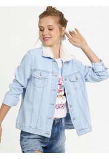 Jaqueta Feminina Jeans Botão Gups