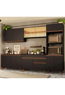 Cozinha Completa Madesa Reims 310001 Com Armã¡Rio E Balcã£O - Preto Preto - Preto - Dafiti