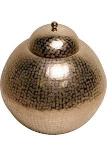 Vaso Decorativo De Metal Redondo Orbed