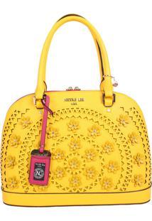 Bolsa Nicole Lee Farley Flowery Dome Amarelo