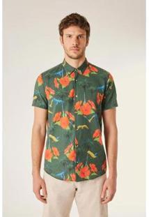 Camisa Reserva Pf Mc Malibu 3D Masculina - Masculino-Verde
