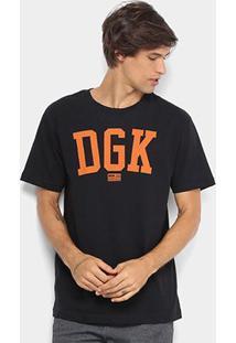 Camiseta Dgk Past Time Masculina - Masculino-Preto