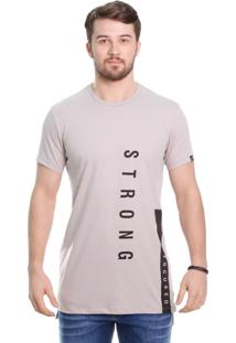 Camiseta Javali Long Focus Areia