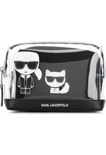 Karl Lagerfeld Clutch K/Ikonik Transparente - Preto