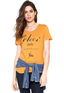 Camiseta Colcci Gorgeous Amarela
