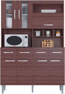 Cozinha Compacta 7 Portas E 4 Gavetas Melissa - Poquema - Capuccino