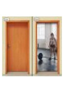 Adesivo Decorativo De Porta - Academia - Fitness - 1166Cnpt