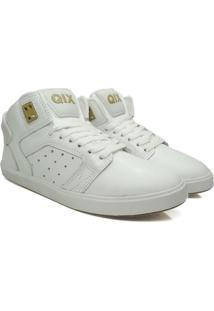 Tênis Skate Qix Jam Iii Branco/Dourado
