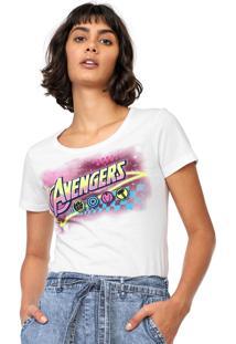 Blusa Cativa Marvel Avengers Branca
