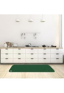 Tapete De Cozinha Mdecore Natal Verde 40X120Cm