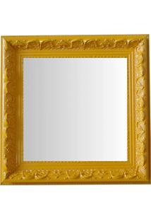 Espelho Moldura Rococó Raso 16133 Amarelo Art Shop