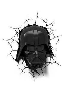 Luminaria Darth Vader 3D Plastico Preto