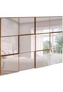 Espelho Decorativo Anubis Retangular Nobre Fosco 100 Cm