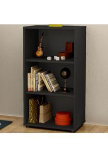 Estante Para Livros Clean 2 Prateleiras Preto 005324 - Artany