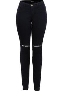 Calça Jeans Star Luck Skinny Destroyd Feminina - Feminino