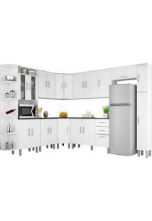 Cozinha Compacta 10 Peças Suiça - Poliman. - Branco