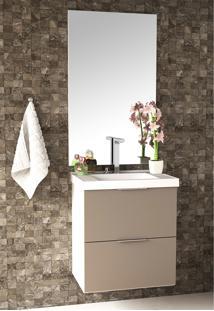 Conjunto Para Banheiro Pietra Branco/Gianduia Brilho Bosi - Tricae