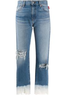 Denimist Mid-Rise Cropped Jeans - Azul