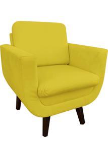 Poltrona Decorativa Athenas Suede Amarelo D'Rossi