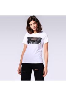 Camiseta Diesel T-Sily-I Feminina - Feminino-Branco