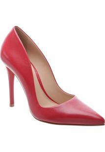 Scarpin Liso Em Couro- Vermelho- Salto: 10,5Cmarezzo & Co.