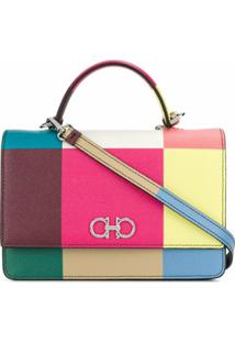 Salvatore Ferragamo Gancini Colour-Block Crossbody Bag - Rosa