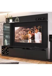 Rack Com Painel Para Tv Até 50 Polegadas 2 Portas 2021 Ptx Preto - Quiditá Móveis