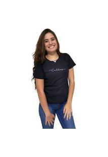 Camiseta Feminina Cellos Stretched Premium Preto