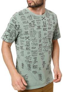 Camiseta Manga Curta Masculina Vels Verde