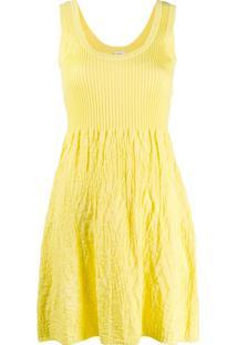 M Missoni Vestido De Tricô - Amarelo