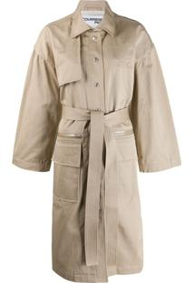 Courrèges Trench Coat Boxy - Neutro