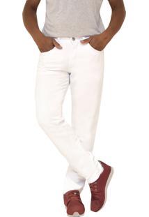 Calça Young Style Jeans Sarja Tradicional Branca