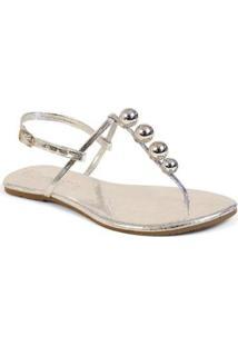 Sandália Flat Básica Feminina Mercedita Shoes Verniz - Feminino