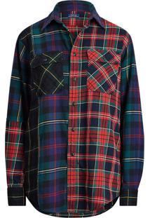 Camisa Polo Ralph Lauren Reta Xadrez Vermelha