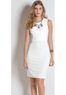 61aec5934d ... Vestido Mink Tubinho Branco Sem Mangas