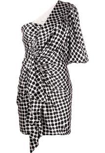 Alexandre Vauthier One-Shoulder Satin Polka Dot Dress - Rosa