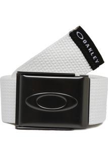 Cinto Oakley Ellipse Web Belt Branco