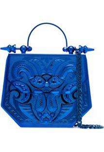 Okhtein Bolsa Hexagonal Metálica - Azul