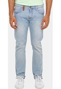Calça Jeans Slim Fit Triton Lavagem Clara Masculina - Masculino