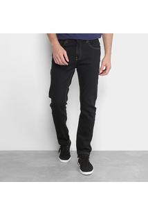 Calça Jeans Slim Calvin Klein Lavagem Escura Five Pockets Straight Masculina - Masculino