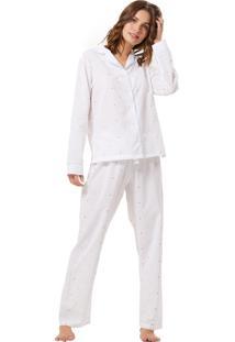 Pijama Corpo E Arte London Branco/Azul/Laranja